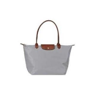 Le Pliages Longchamp Logo soldes sorties Sac Shopping Petit Gris Argent