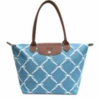 Sac Le Pliage Longchamps Paris soldes Grid Carreaux Bleu