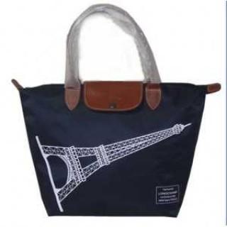 Sac A Main Longchamp France soldes sortie Pliage Tour Eiffel Noir