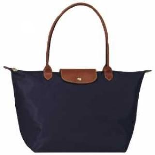 Sacs Shopping Longchamp pas cher en lignes Les Pliage Large Bleu Fonc